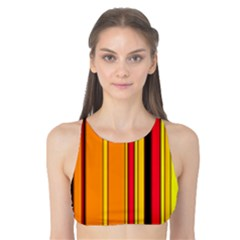 Hot Stripes Fire Tank Bikini Top by ImpressiveMoments