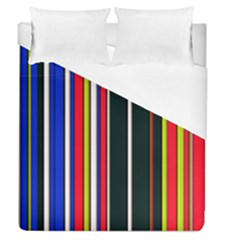 Hot Stripes Red Blue Duvet Cover Single Side (full/queen Size)