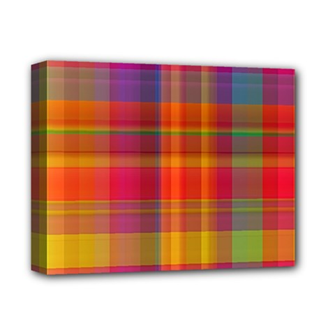 Plaid, Hot Deluxe Canvas 14  X 11  by ImpressiveMoments