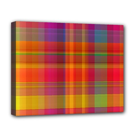 Plaid, Hot Deluxe Canvas 20  X 16