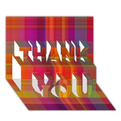 Plaid, Hot Thank You 3d Greeting Card (7x5)  by ImpressiveMoments