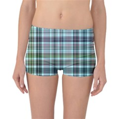 Plaid Ocean Reversible Boyleg Bikini Bottoms