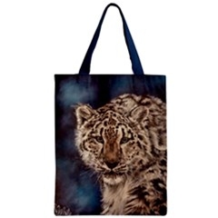 Snow Leopard Classic Tote Bags