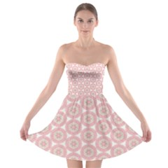 Cute Seamless Tile Pattern Gifts Strapless Bra Top Dress by creativemom
