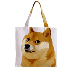 Dogecoin Zipper Grocery Tote Bags by dogestore