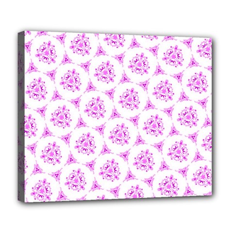 Sweet Doodle Pattern Pink Deluxe Canvas 24  X 20   by ImpressiveMoments