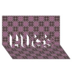 Cute Seamless Tile Pattern Gifts Hugs 3d Greeting Card (8x4)  by creativemom