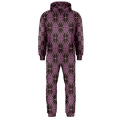Cute Seamless Tile Pattern Gifts Hooded Jumpsuit (men)  by creativemom