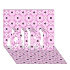 Cute Seamless Tile Pattern Gifts Girl 3d Greeting Card (7x5)  by creativemom
