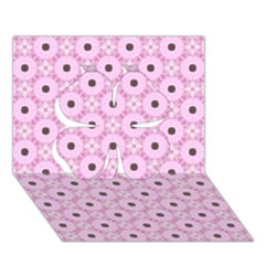 Cute Seamless Tile Pattern Gifts Clover 3d Greeting Card (7x5)  by creativemom