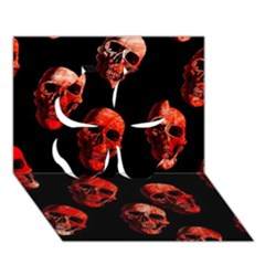 Skulls Red Clover 3d Greeting Card (7x5)