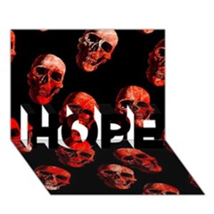 Skulls Red HOPE 3D Greeting Card (7x5)