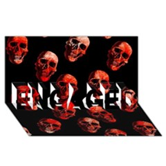 Skulls Red ENGAGED 3D Greeting Card (8x4)