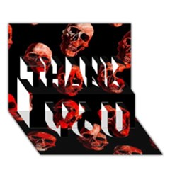 Skulls Red THANK YOU 3D Greeting Card (7x5)
