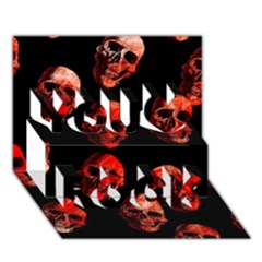 Skulls Red You Rock 3D Greeting Card (7x5)