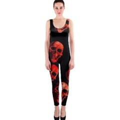Skulls Red OnePiece Catsuits