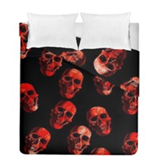 Skulls Red Duvet Cover (Twin Size)