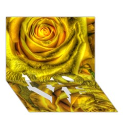 Gorgeous Roses, Yellow  Love Bottom 3d Greeting Card (7x5)  by MoreColorsinLife
