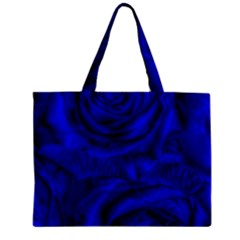 Gorgeous Roses,deep Blue Zipper Tiny Tote Bags