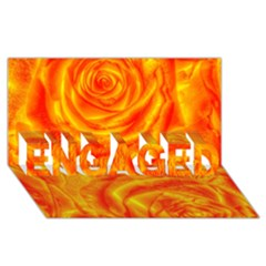 Gorgeous Roses, Orange Engaged 3d Greeting Card (8x4)  by MoreColorsinLife