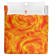 Gorgeous Roses, Orange Duvet Cover (full/queen Size)