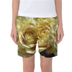 Yellow Roses Women s Basketball Shorts by MoreColorsinLife