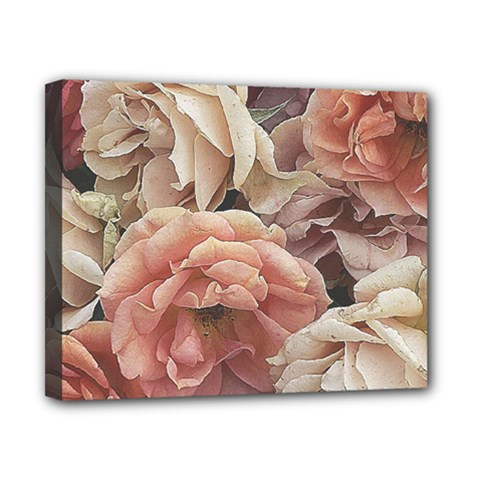 Great Garden Roses, Vintage Look  Canvas 10  X 8