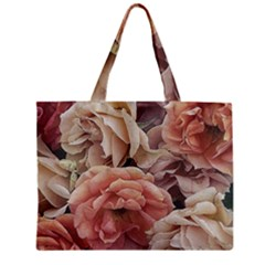 Great Garden Roses, Vintage Look  Zipper Tiny Tote Bags