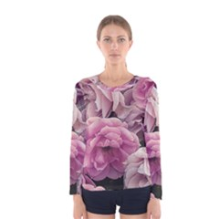 Great Garden Roses Pink Women s Long Sleeve T Shirts
