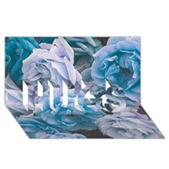 Great Garden Roses Blue Hugs 3d Greeting Card (8x4)  by MoreColorsinLife