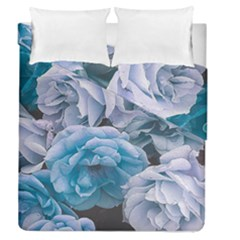 Great Garden Roses Blue Duvet Cover (full/queen Size) by MoreColorsinLife