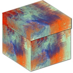 Abstract In Green, Orange, And Blue Storage Stool 12   by digitaldivadesigns