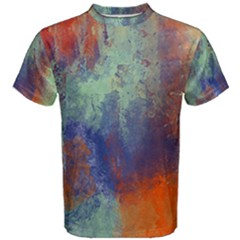 Abstract In Green, Orange, And Blue Men s Cotton Tees by digitaldivadesigns