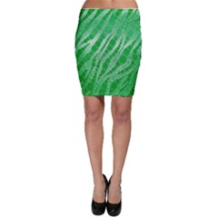 Florescent Green Zebra Abstract  Bodycon Skirts by OCDesignss