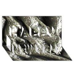 Brilliant Metal 5 Happy New Year 3d Greeting Card (8x4)  by MoreColorsinLife