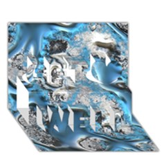 Metal Art 11, Blue Get Well 3d Greeting Card (7x5)  by MoreColorsinLife