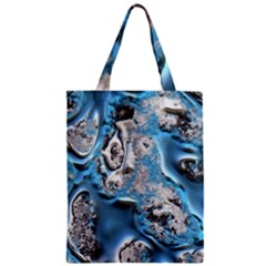 Metal Art 11, Blue Classic Tote Bags by MoreColorsinLife