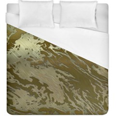 Metal Art Swirl Golden Duvet Cover Single Side (kingsize) by MoreColorsinLife