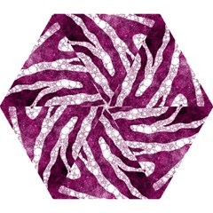 Purple Zebra Print Bling Pattern  Mini Folding Umbrellas by OCDesignss