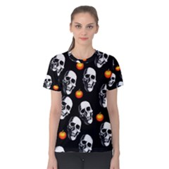 Skulls And Pumpkins Women s Cotton Tees