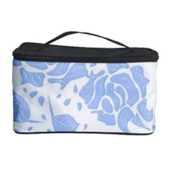 Floral Wallpaper Blue Cosmetic Storage Cases by ImpressiveMoments