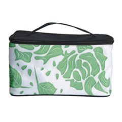 Floral Wallpaper Green Cosmetic Storage Cases by ImpressiveMoments