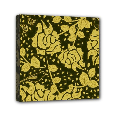 Floral Wallpaper Forest Mini Canvas 6  X 6  by ImpressiveMoments