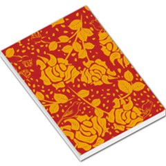 Floral Wallpaper Hot Red Large Memo Pads by ImpressiveMoments