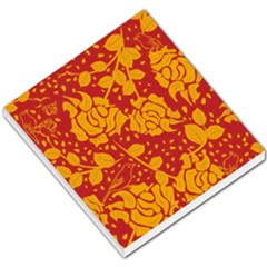 Floral Wallpaper Hot Red Small Memo Pads by ImpressiveMoments