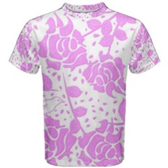 Floral Wallpaper Pink Men s Cotton Tees by ImpressiveMoments