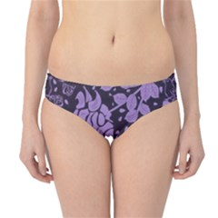 Floral Wallpaper Purple Hipster Bikini Bottoms by ImpressiveMoments