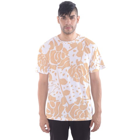 Floral Wallpaper Peach Men s Sport Mesh Tees by ImpressiveMoments