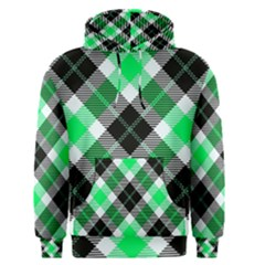 Smart Plaid Green Men s Pullover Hoodies by ImpressiveMoments