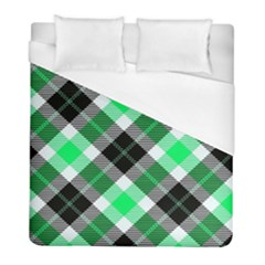 Smart Plaid Green Duvet Cover Single Side (twin Size) by ImpressiveMoments